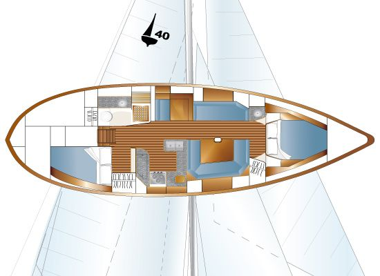 Pacific Seacraft 40-Floorplan/Layout