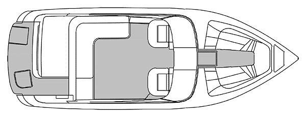 Cobalt 246 Manufacturer Provided Image: 246 - deck plan