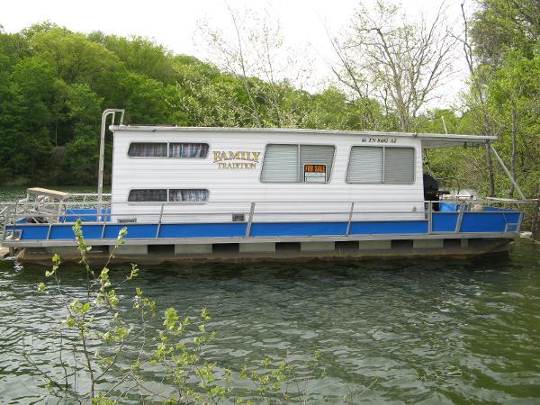 "Crest 12' 6"" x 35 w/Catwalks Pontoon Houseboat"