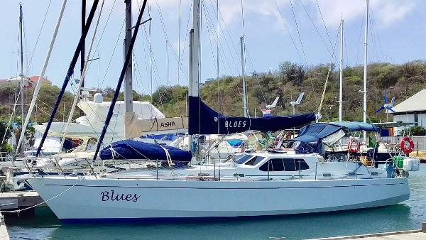 Bruce Roberts Pilothouse 43 BLUES in Curacao - March 2019