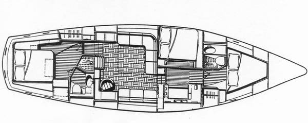 Gulfstar Sailmaster 50 3 Cabin Layout
