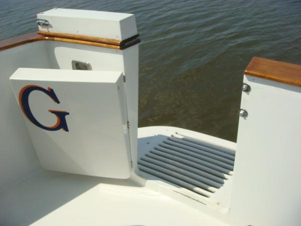 60' DeFever cockpit transom door