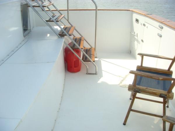 60' DeFever cockpit starboard