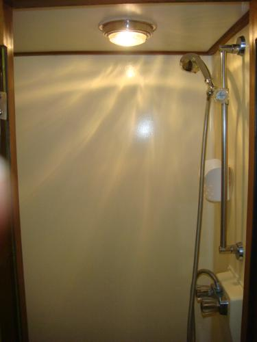 60' DeFever master stateroom shower
