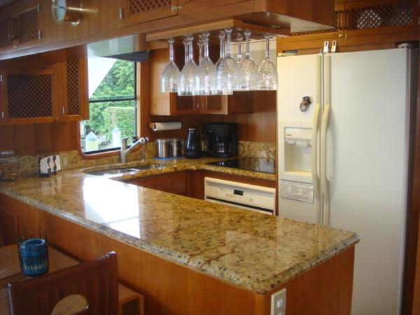 60' DeFever galley photo1