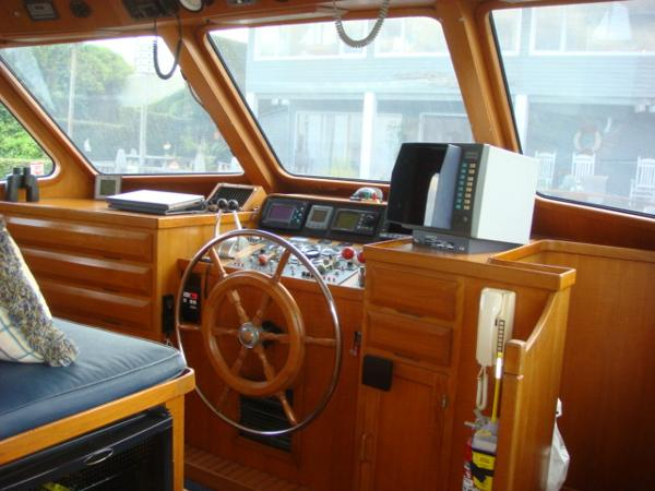 60' DeFever pilothouse forward
