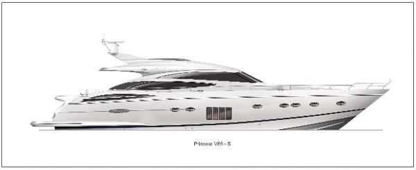 Princess V85-S Profile White Hull