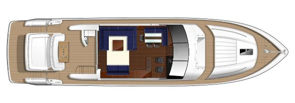Princess V85-S Upper Deck Layout