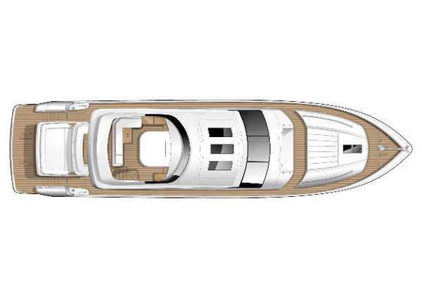 Princess V85-S Flybridge Optional Layout