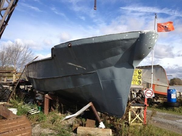 36' x 12' Steel Displacement Hull /Project Boat