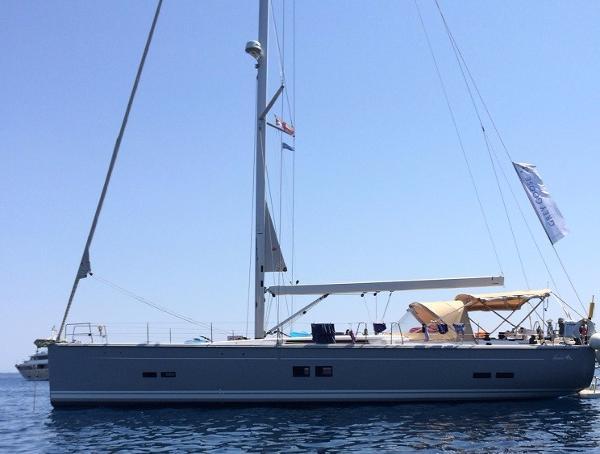 Hanse 575 Anchored up