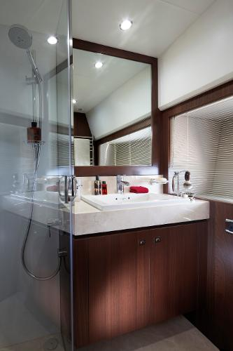 Princess V78 Forward Cabin Bathroom