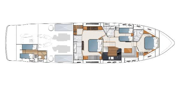 Princess V78 Optional Lower Accommodation Layout