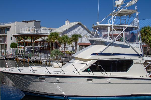 Hatteras 1987 41 Convertible Port Side