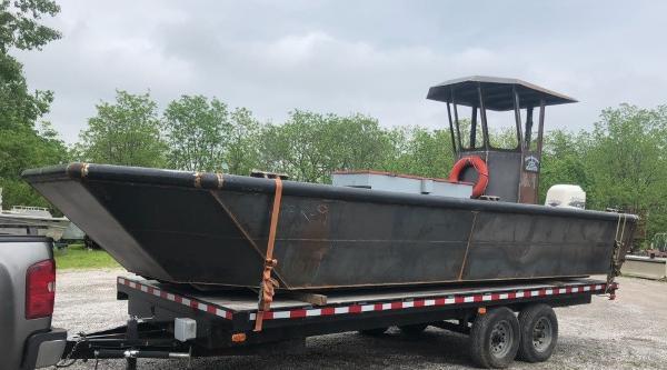Commercial 24'6 x 9' Steel Work Boat