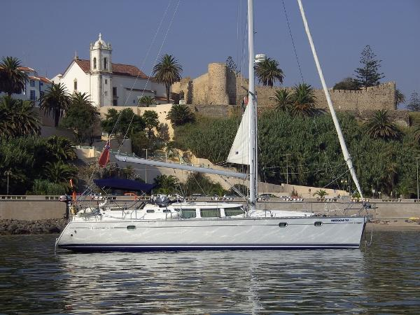 Jeanneau Sun Odyssey 43 DS Freedom To at anchor Sines 2010