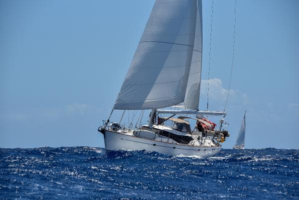 Oyster 66 'True Blue' under sail