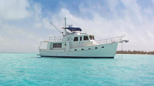 Kadey-Krogen Yachts  - Krogen 44' AE Krogen 44' AE at anchor