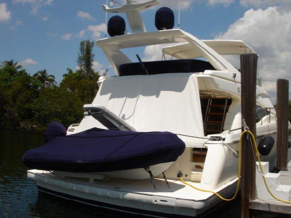 Ferretti Yachts 590 Starboard Quarter Profile