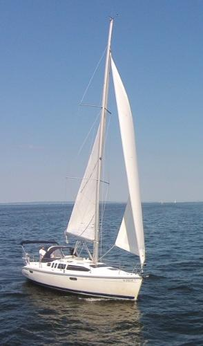 Hunter 336 Sailing