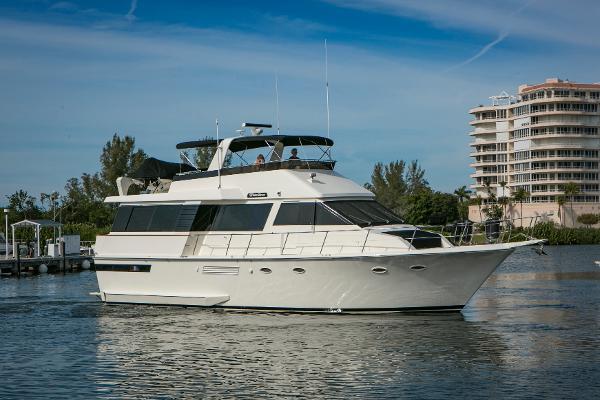 Viking 55 Motor Yacht Stbd Profile
