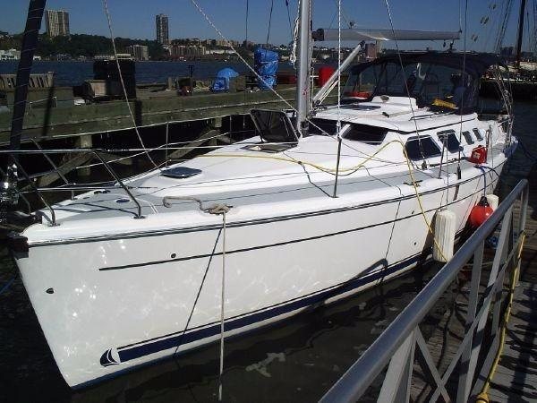 Hunter 41 Deck Salon Port Bow looking Aft