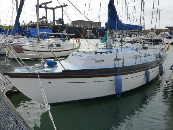 Barbican 33 Port side in marina berth