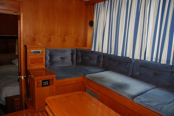 Teak Interior, Drapes and Upholstery in Good Condition