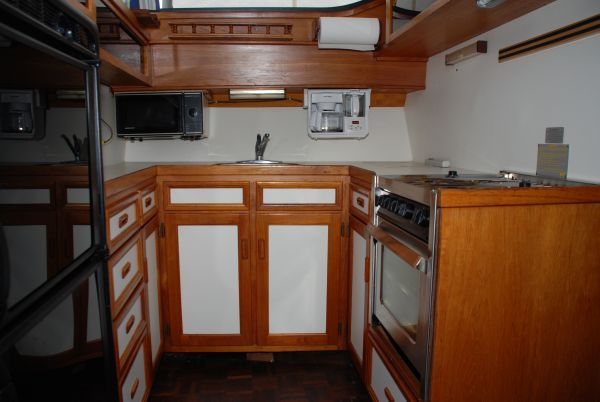 Galley with Cabinets and Counter Space