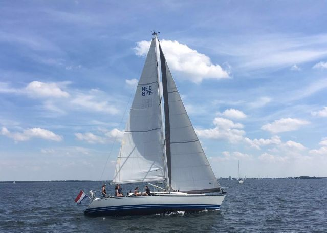 X-382 under sail