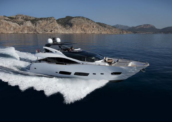 Sunseeker 28 Metre Yacht Manufacturer Provided Image: Sunseeker 28M Yacht Exterior Running Shot
