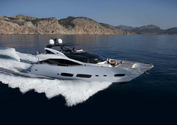 Sunseeker 28 Metre Yacht Manufacturer Provided Image: Sunseeker 28M Yacht Exterior Running Shot