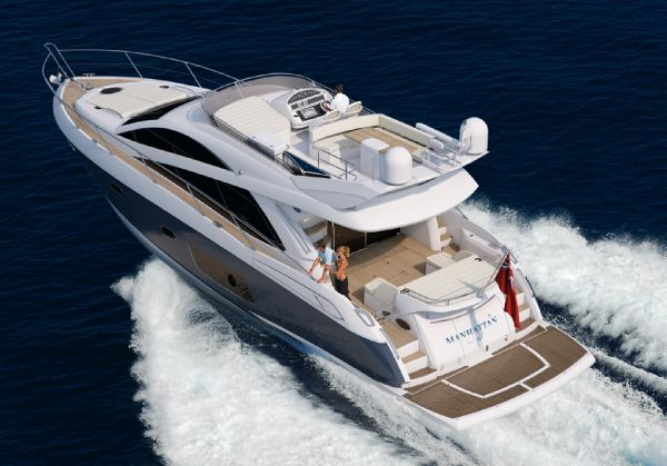 Sunseeker Manhattan 53 Manufacturer Provided Image: Sunseeker Mahattan 53 Exterior Running Shot