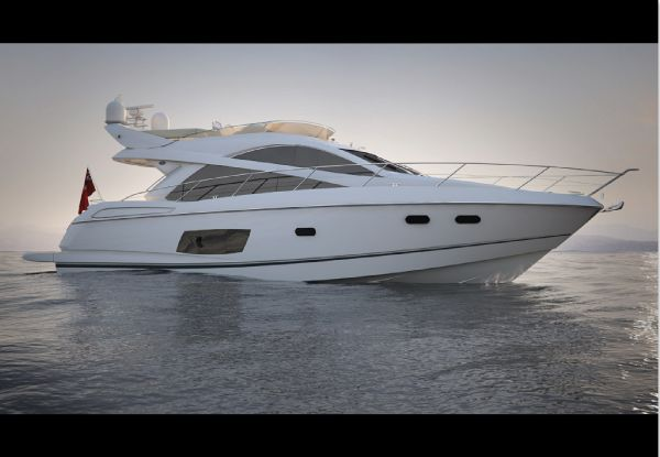 Sunseeker Manhattan 53 Manufacturer Provided Image: Sunseeker Mahattan 53 White Hull Side