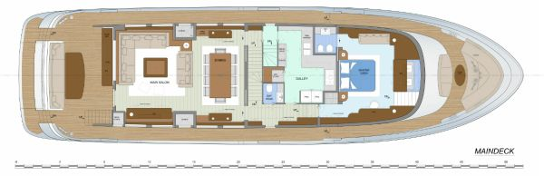 Fifth Ocean 28 Layout Main Deck