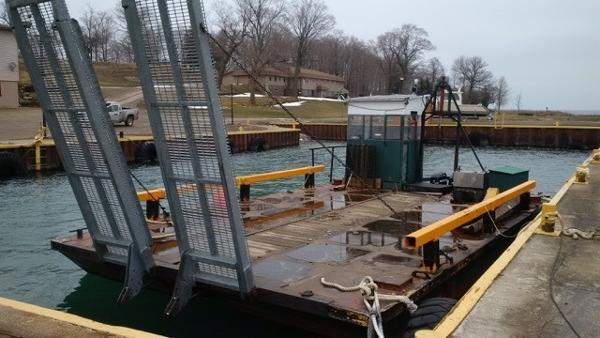 Commercial Barge with Hydraulic Ramps