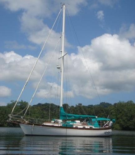 Ta Shing Baba 40 WindFree at Anchor
