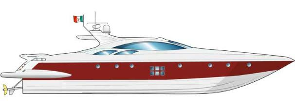 Azimut 86S Manufacturer Provided Image: Profile