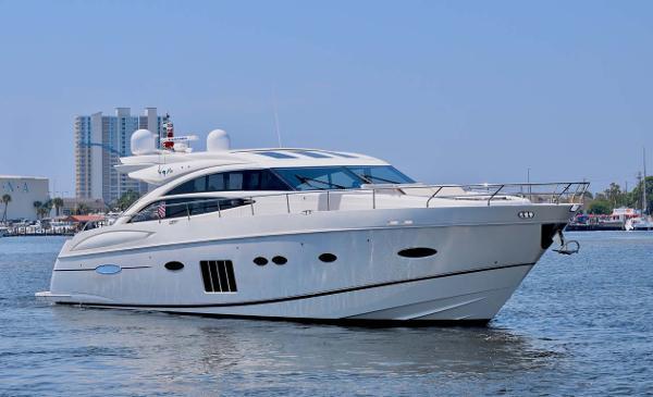 Princess V72 WILL TRADE Starboard Profile