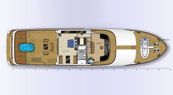 Fifth Ocean 35.5 Layout Bridge Deck