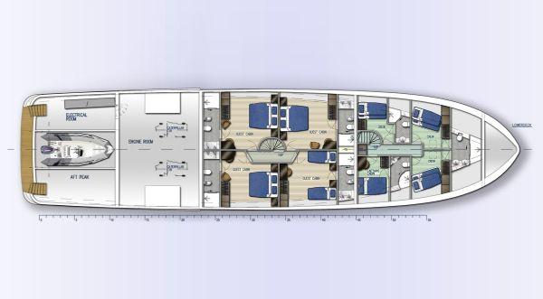 Fifth Ocean 35.5 Layout Lower Deck