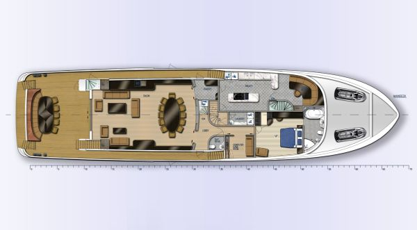 Fifth Ocean 35.5 Layout Main Deck