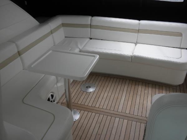 Aft seating and Cockpit teak floor