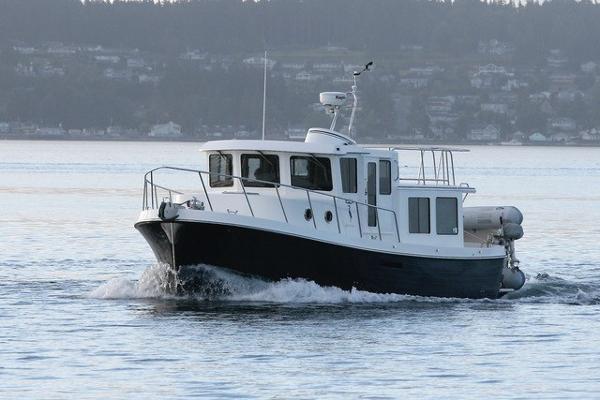 American Tug 34  Hull #138 Blue Heron underway