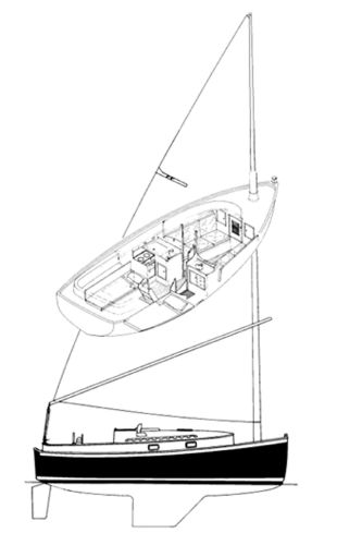 Nonsuch 26 Line Drawing