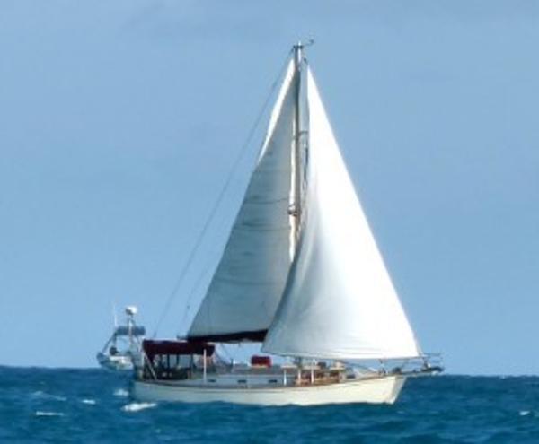 Island Packet 38 Starboard Profile under sail