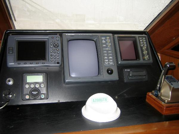 Nav equipment at lower helm