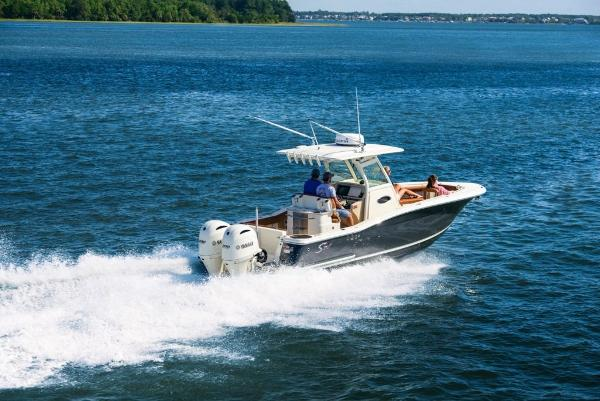 Scout 255 Lxf Stock Image Shark Gray Hull Twin 2.7 Liter F150 Scout White