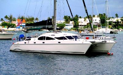 Prout 45 At Anchor in the Bahamas