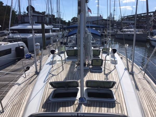 Beneteau 50 Deck Facing Aft